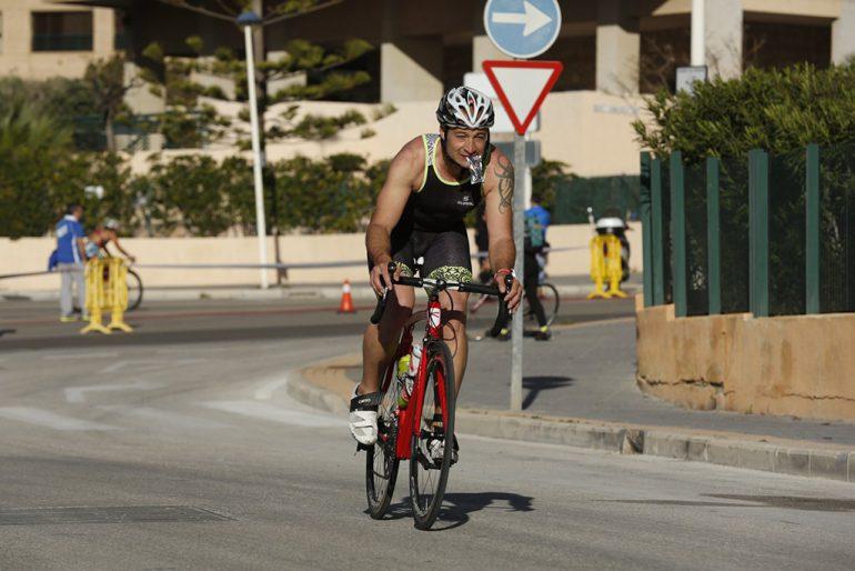 Marcelo Moreno en el segmento ciclista