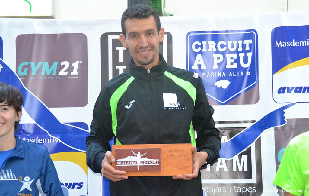 Moha Rida ganador de la Volta a Peu a Dénia