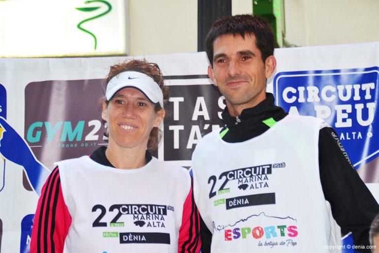 Podio lideres del Circuit a Peu Marina Alta