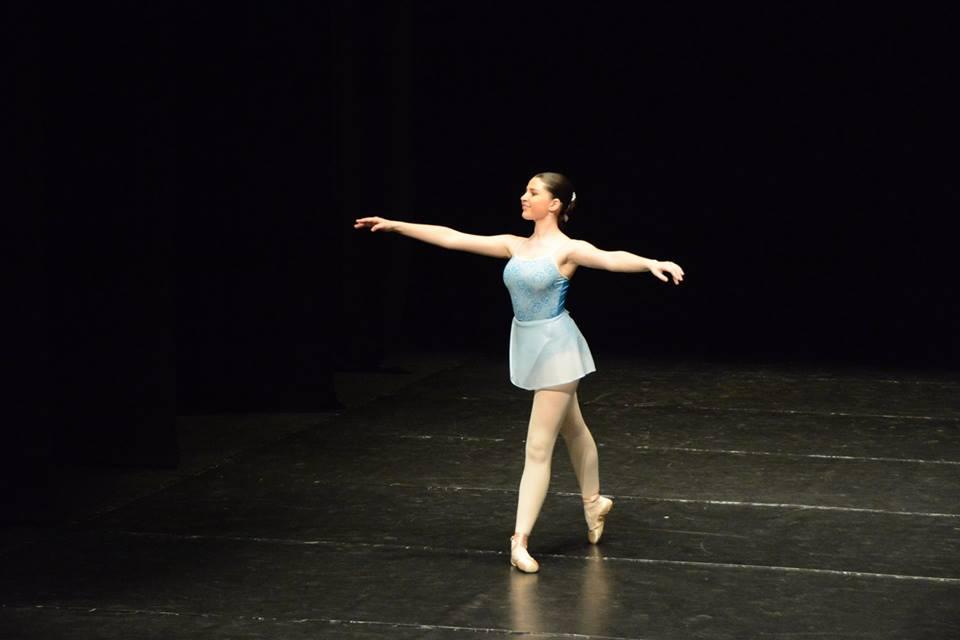 Bailarina de Babylon en un concurso de danza