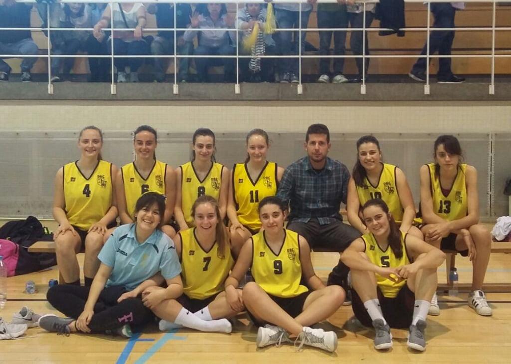 Equipo junior del Dénia Básquet en Vila Real
