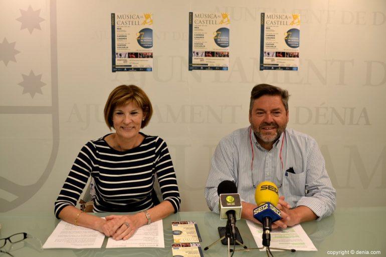 Maribel Font y Rafa Carrió presentan la 27 edición de Música al Castell