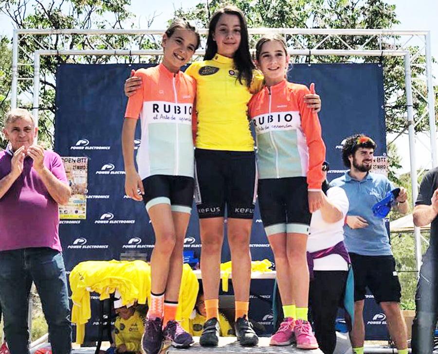 Raquel Perez on the podium