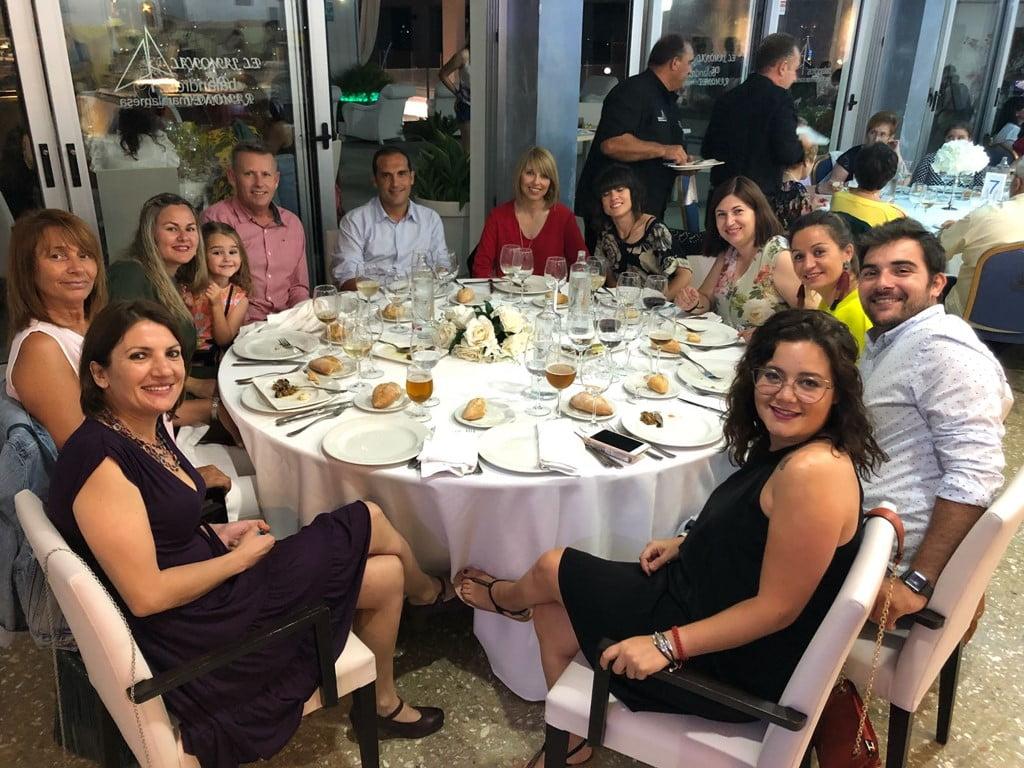 Colaboradores con la cena de Chigüines de Nicaragua