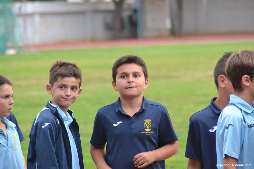 Jugador de la escuela de fútbol