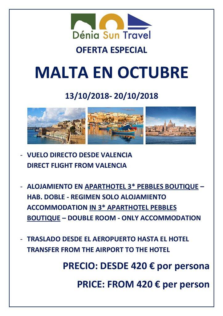 Malta en octubre Oferta Especial Deni Sun Travel