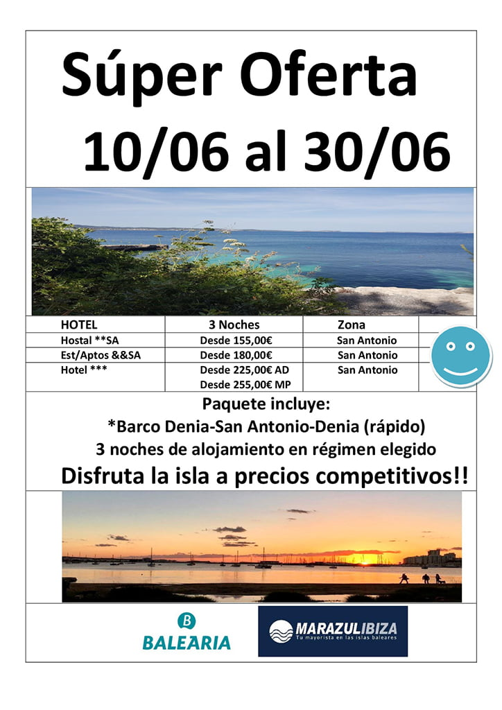 Oferta Junio Ibiza Deni Sun Travel