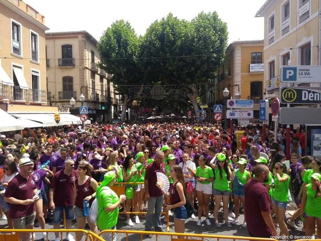 Primer día de fiestas de Dénia 2018 – Ambiente en La Glorieta