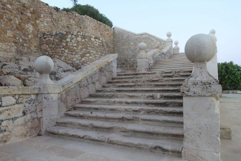 Sunset route through Dénia Castle - staircase