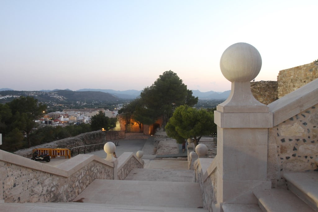 Sunset route through the Castle of Dénia - views from the staircase