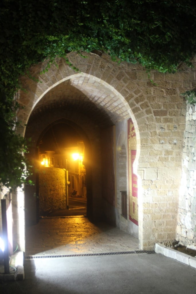 Sunset route through the Castle of Dénia - night entrance