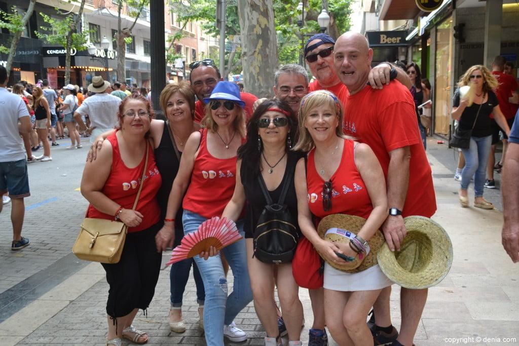 Primer día de fiestas de Dénia 2018 – Peñas en la calle Campos