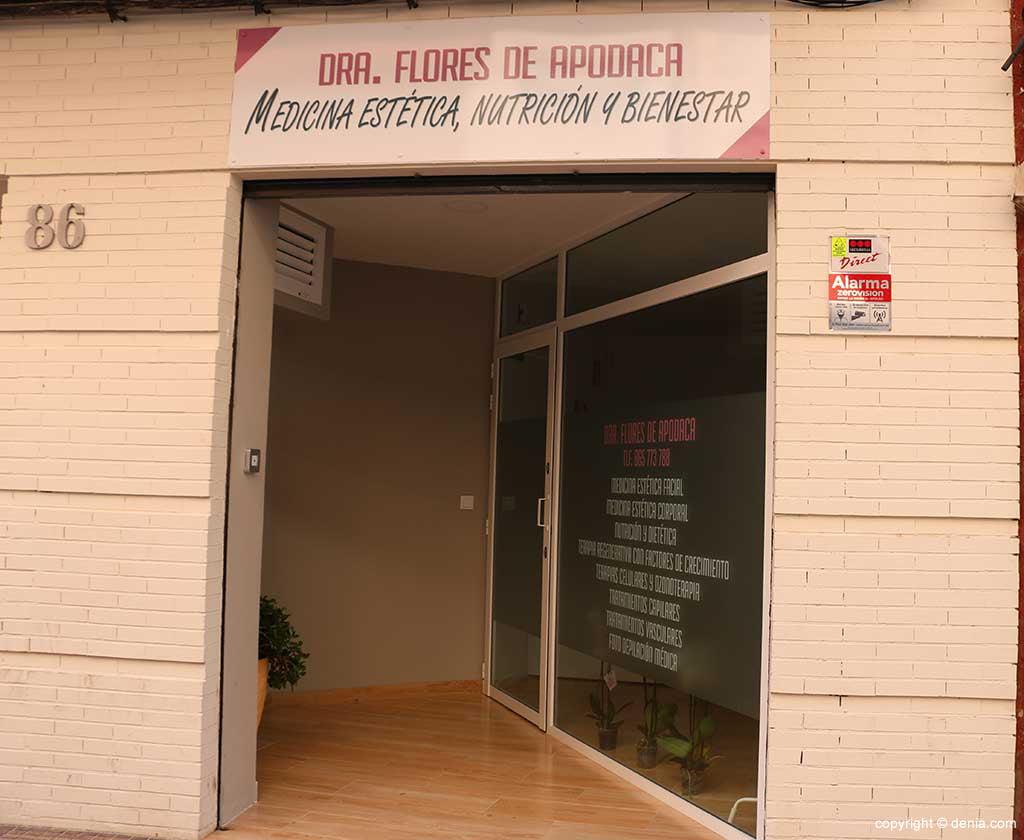 Klinischer Eingang Doktor Flores de Apodaca