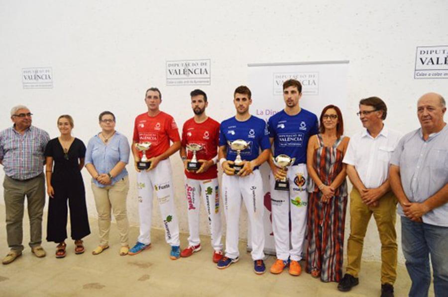 Equipos de Dénia y Vinalesa en la fina del Trofeo Diputación de Valencia de escala i corda