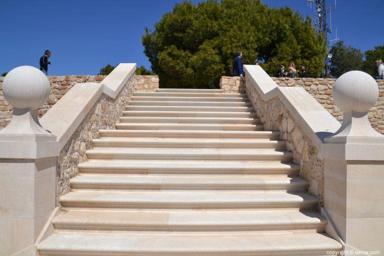 Treppe des Palau del Castillo de Dénia
