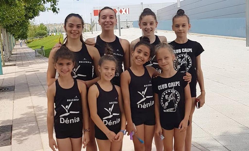gimnastas Club Dénia y Club Calpe  en el Nacional de Clubes 2018 en Zaragoza