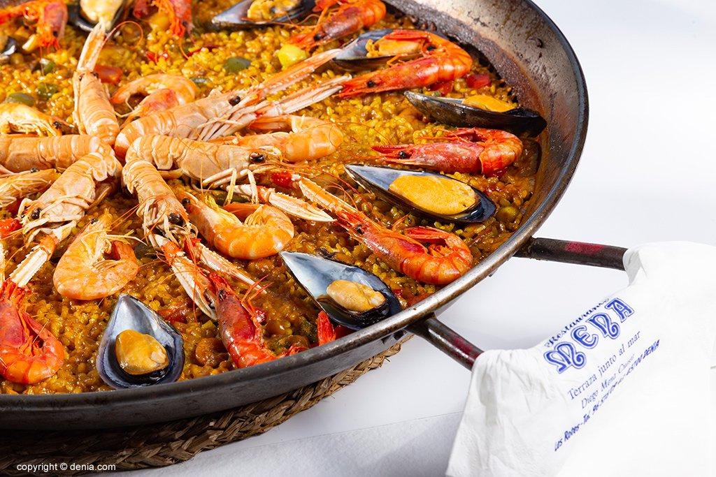 Paella de marisco Restaurante Mena