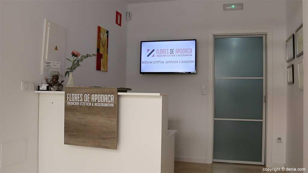Empfang Klinik Arzt Flores de Apodaca