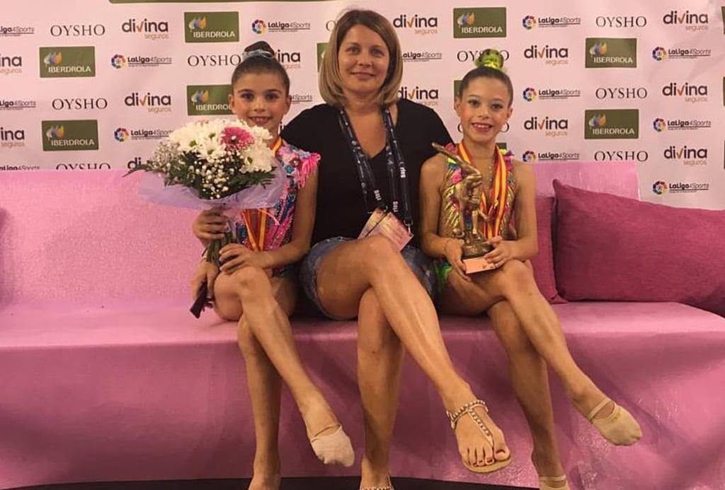 Sofía Corti y Stella Galstyan subcampeonas de España en Benjamín