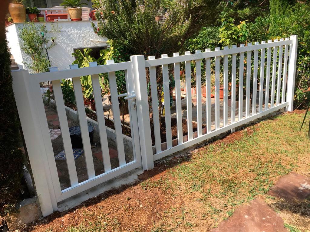 Staccionata Bianca In Legno recinzione bianca aluvent - dénia