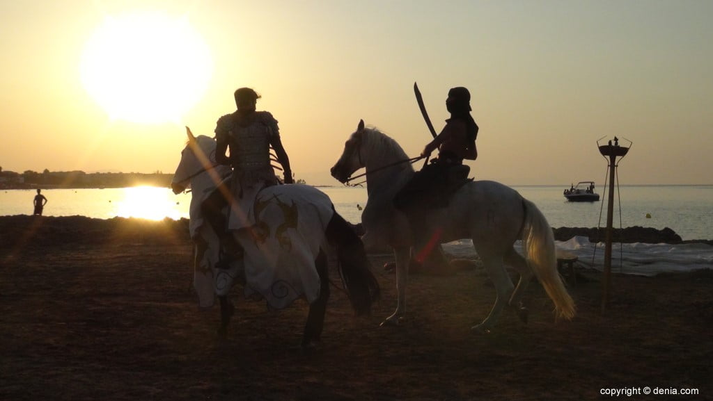 Débarquement Maures et Chrétiens Dénia 2018 - Lutte à cheval