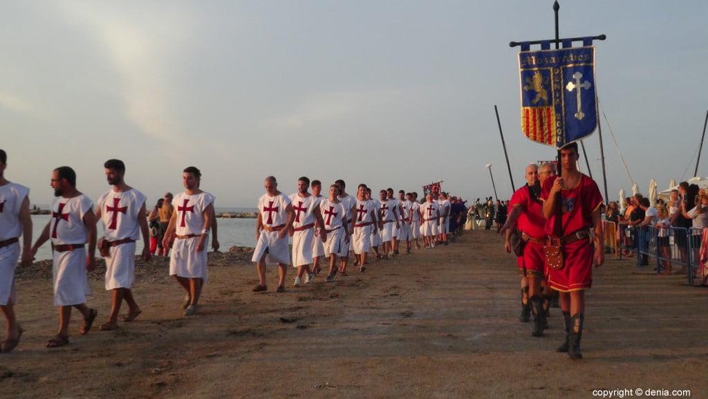 Débarquement des Maures et des Chrétiens Dénia 2018 - Arrivée des troupes chrétiennes