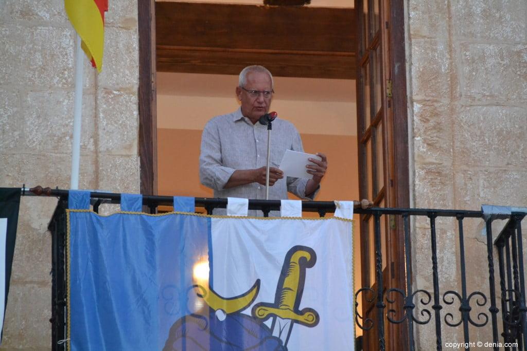 Proclamation Maures et Chrétiens Dénia 2018 - Vicent Grimalt livre les clés de la ville