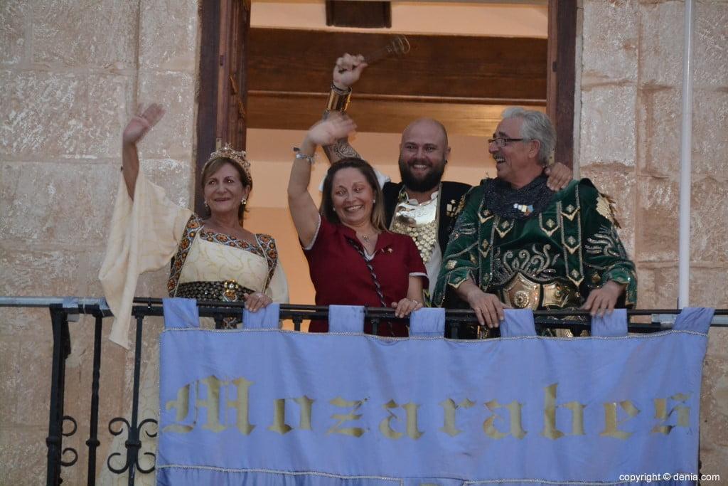 Proclamation Maures et Chrétiens Dénia 2018 - Salut du balcon