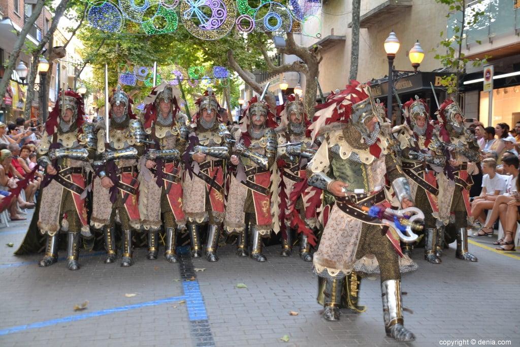 Gala défilé Moros y Cristianos Dénia 2018 - fila Creuats
