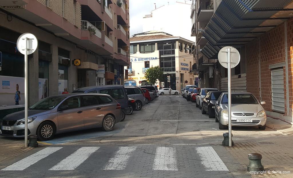 Calle Calderón en Dénia