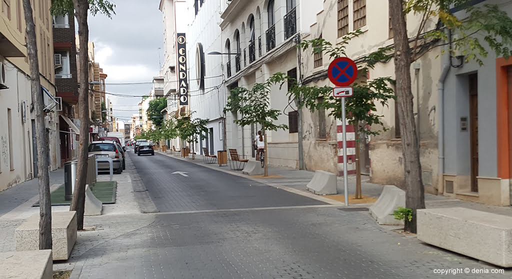 Calle Colón en Dénia