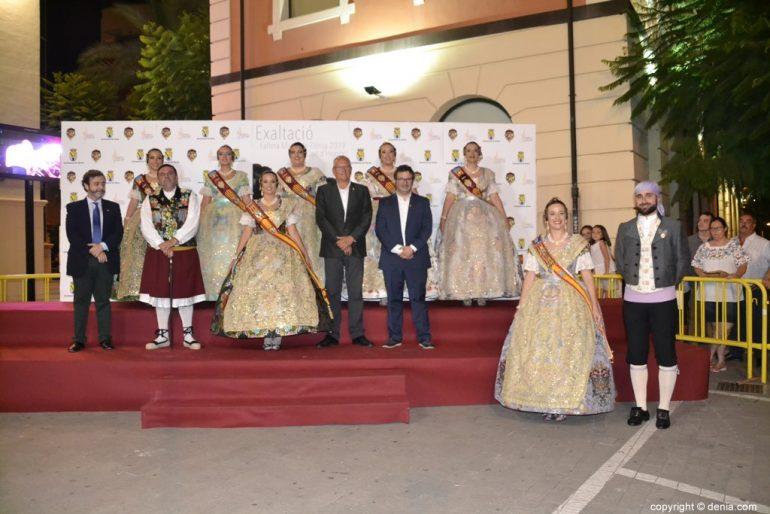 Invitados a la presentación de la fallera mayor de Dénia 2019 - Xàtiva