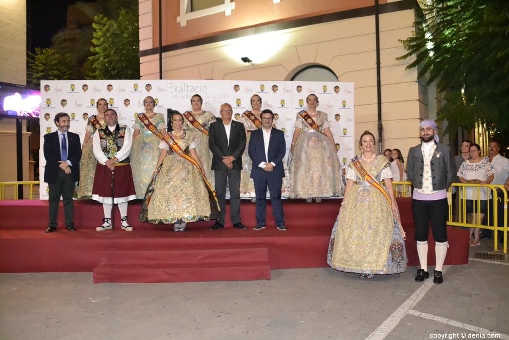 Invitados a la presentación de la fallera mayor de Dénia 2019 – Xàtiva