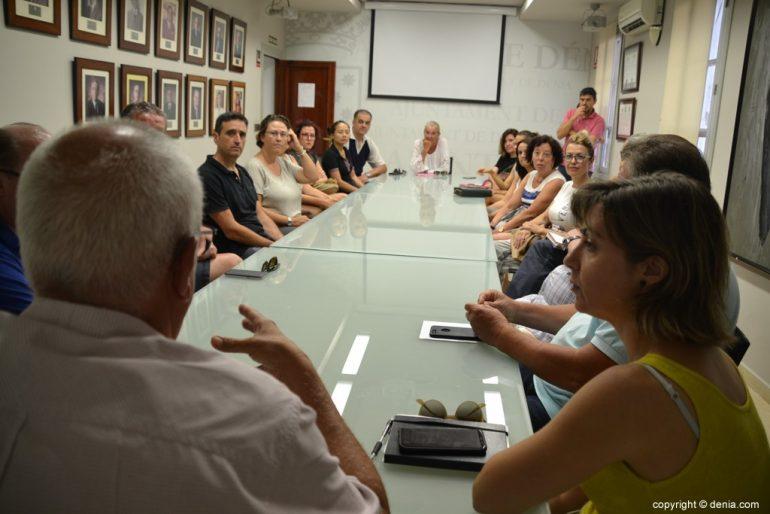 Treffen mit den Händlern des Zentrums von Dénia