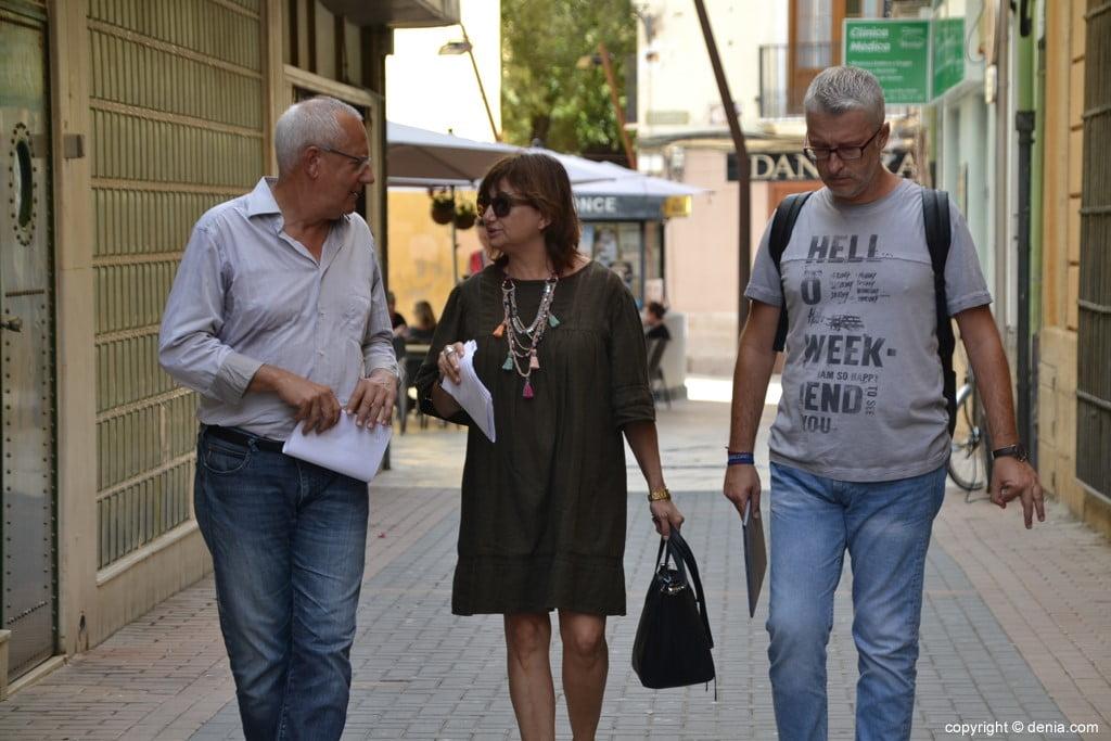 Visita di Carmen Amoraga alle opere della Casa de la Marquesa Valero de Palma