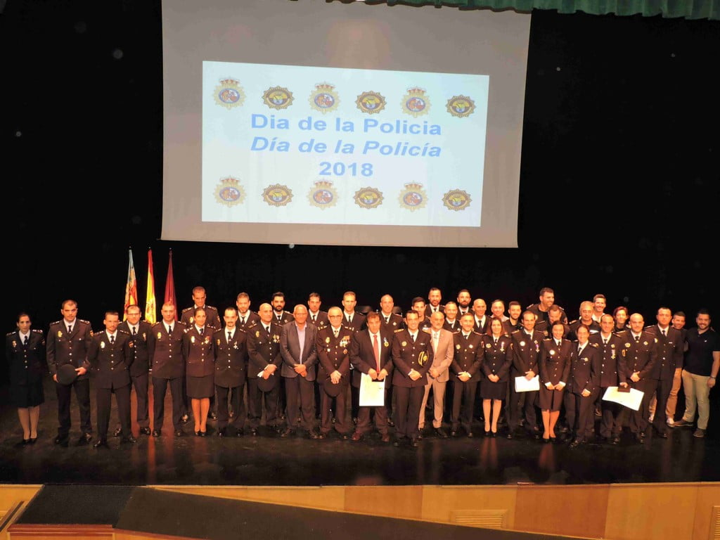 Policemen congratulated on the Day of the Guardian Angels in Dénia
