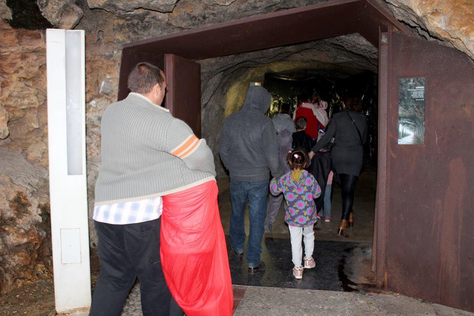 Accés al túnel del terror de Dénia