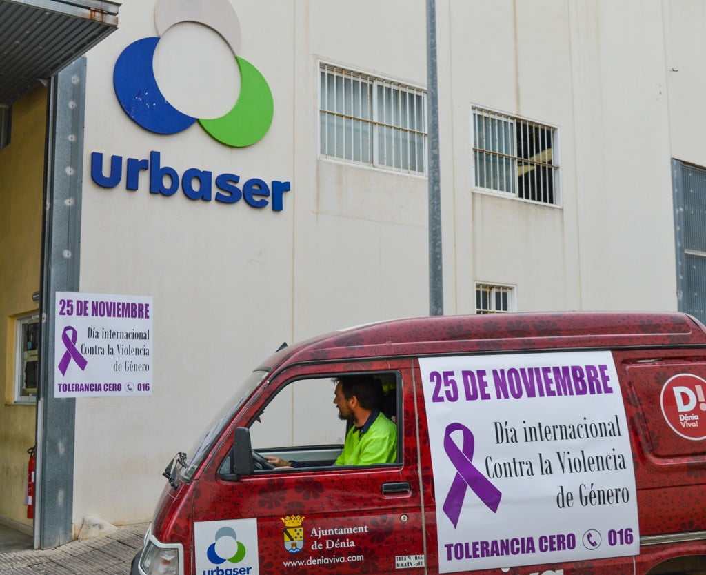 Cartelería contra la violencia de género de Urbaser