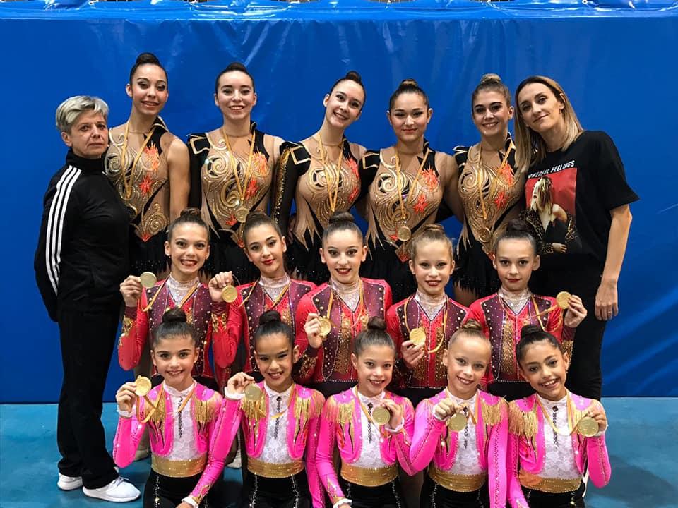 Conjuntos Club GR Denia y Club GR Calpe Campeones Provinciales