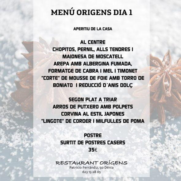 I Menu Di Natale 2019.Menu Di Natale 2018 Capodanno E Re 2019 Restaurant Origens