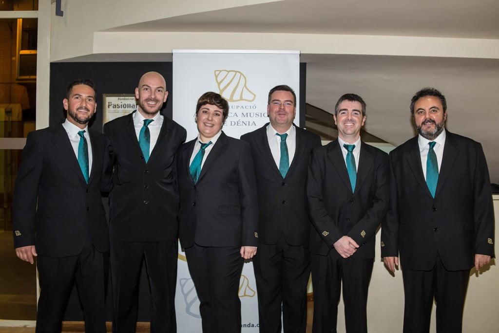 Músicos que celebran sus 25 años en la Banda de Dénia