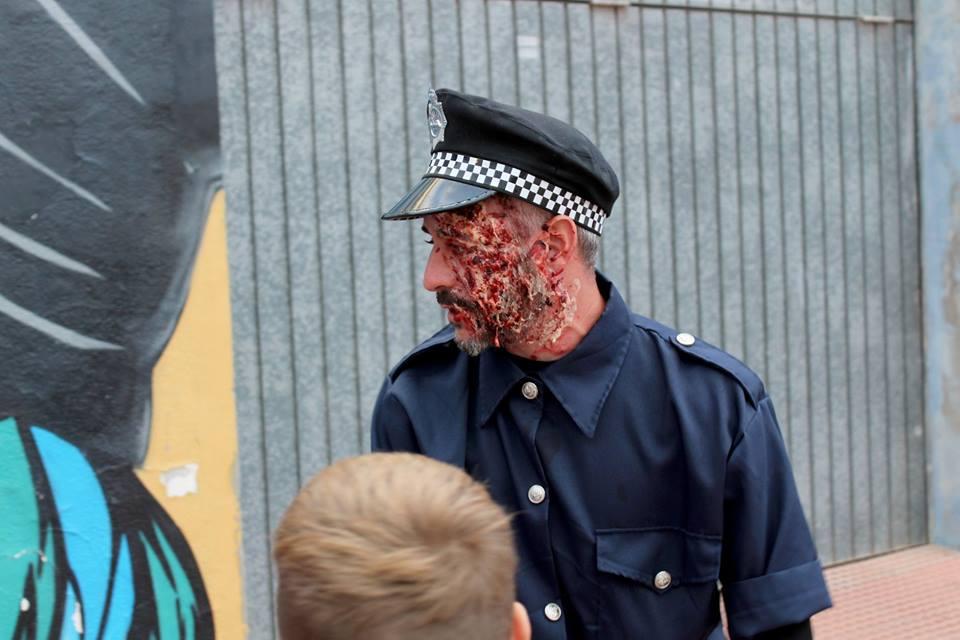 Policia del túnel del terror de De'nia
