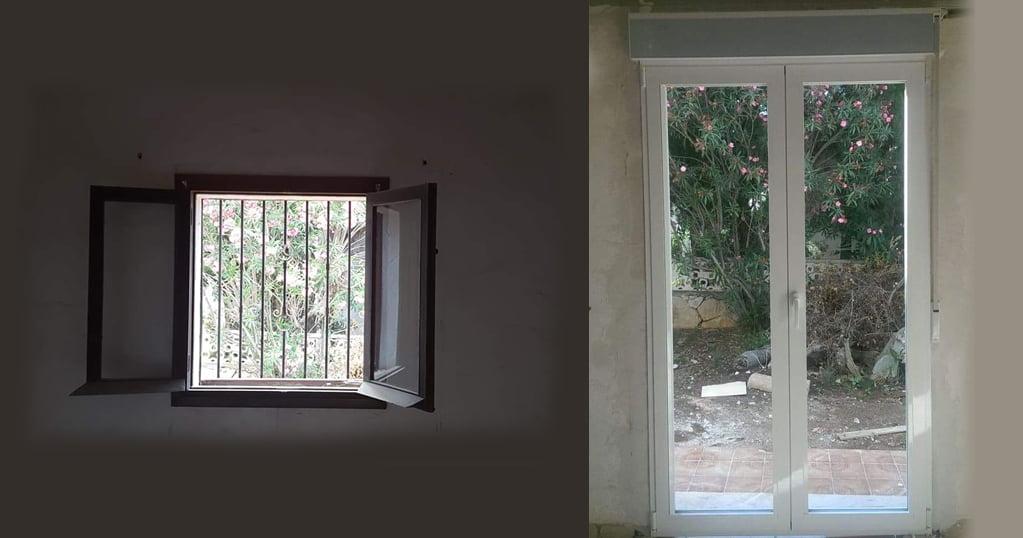 Ventana antes y despues Alucardona Pvc y Aluminios, S.L