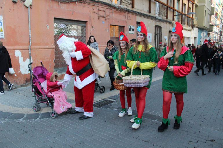 Santa Claus cares for children