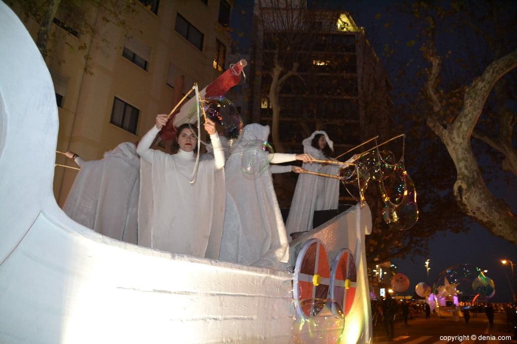Cabalgata Reyes Magos Dénia 2019 - Bulles de savon