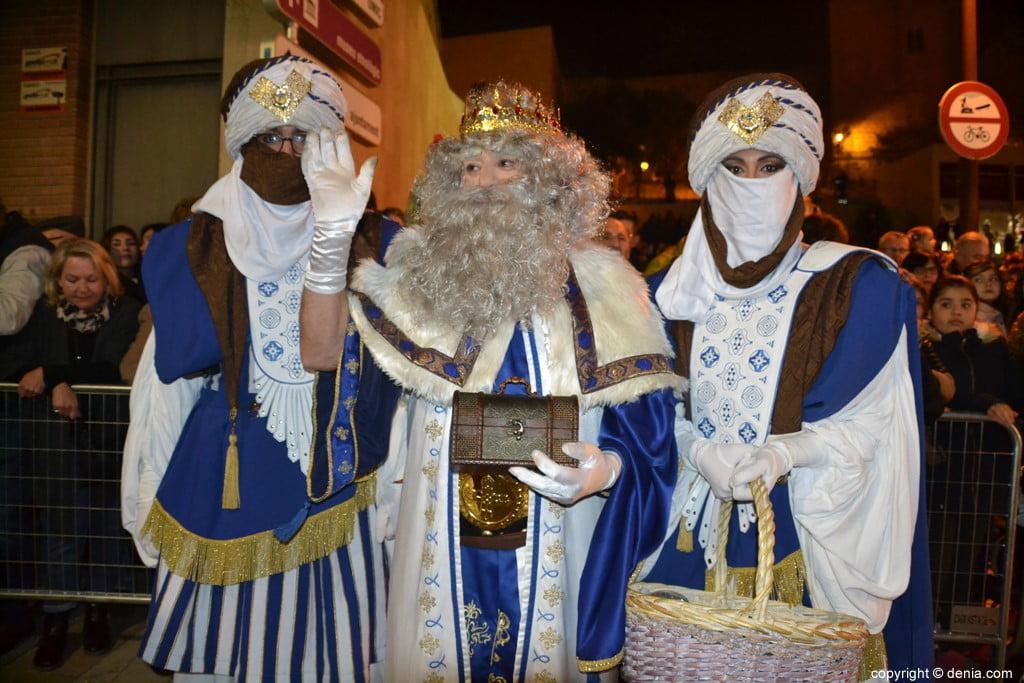 Cabalgata Reyes Magos Dénia 2019 - Melchor et ses pages