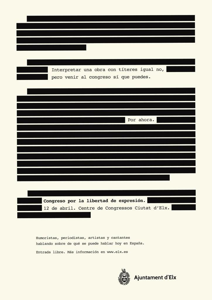 Campaña 'Censura' de Sapristi para el Ayuntamiento de Elche