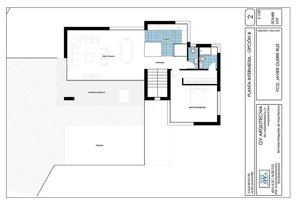 Planta intermedia Opción B GV Arquitecnia