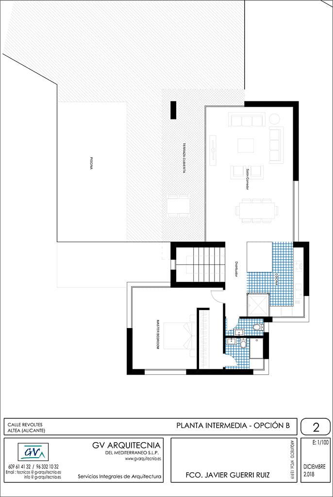 Planta Intermedia opción B 2 GV Arquitecnia