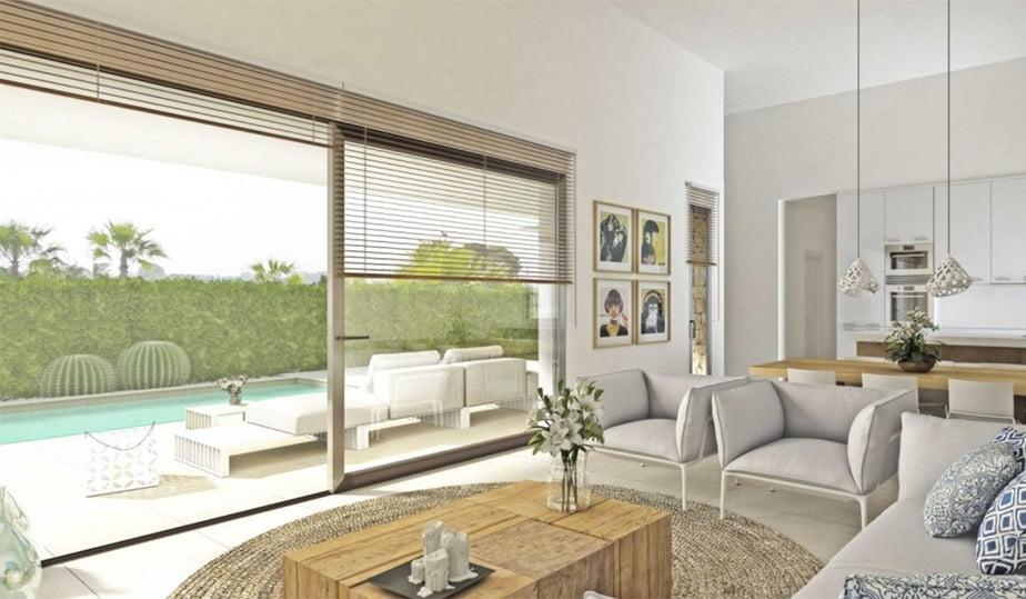 Sala d'estar vila Hugo MLS Dénia Immobiliària
